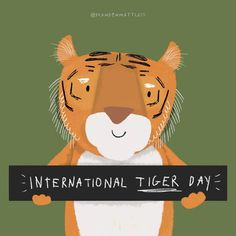 """Brandon Mattless on Instagram: """"Today is #internationaltigerday 🐯🐅 #globaltigerday . Go and take a look at @wwf to learn more about these animals . . . . . . .…"""" Tiger Art, Take That, Animals, Instagram, Animales, Animaux, Animal, Animais"""
