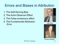 the fundamental attribution error lee ross