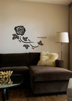 wallsticker shining rose Wallpaper interior Design