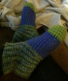 Crochet slippers - free pattern- this is the pattern Grandma Joanna used ( although she did not do the two tone)
