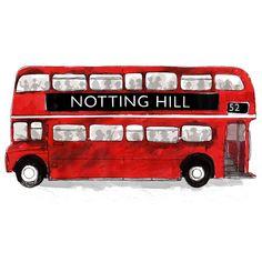 'London Bus' Print