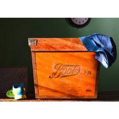 #Boots Wooden #Boxes - #Vintage Staples - Pedlars Vintage