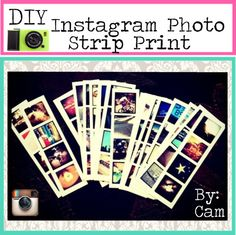 """DIY Instagram Photo Strip Print"" by tip-duchesses ❤ liked on Polyvore"