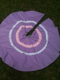 Folklorico skirt - two circle skirts sewn together