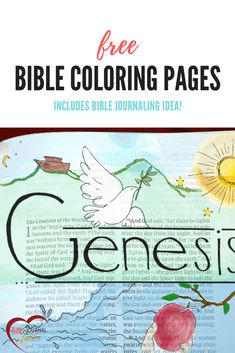 Free Bible Coloring Pages & bible journaling idea #biblecoloring #biblejournal #bibleart