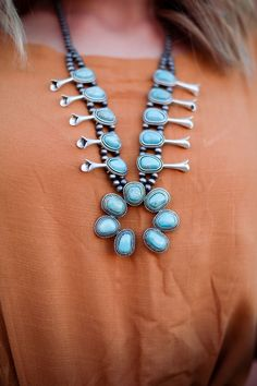 Gnzoe Womens Chain Necklaces Letter V Round Turquoise