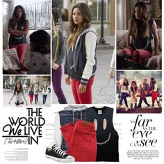 Emily Fields. | Pretty Little Liars. by sarahutcherson on Polyvore featuring OBEY Clothing, Paul by Paul Smith, UNIF, Converse, GetTheLook, PrettyLittleLiars, pll, shaymitchell and EmilyFields