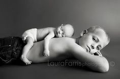 So sweet ~ Newborn photography ideas. Brother and new baby black and white silhouette newborn photo session ideas. Brother Photos, Sibling Photos, Boy Photos, Newborn Pictures, Baby Pictures, Family Pictures, Baby Poses, Newborn Poses, Newborn Shoot