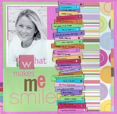 about me scrapbook page - Google Search