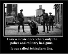 I overheard some elderly veterans discussing gun control, Obama and Hitler.  They all expressed their fear of a police state and the confiscation of guns happening in this country the way it happened in NAZI GERMANY