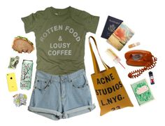 """""""cafe"""" by kampow ❤ liked on Polyvore featuring Worn Free and Acne Studios"""