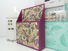 How to make a pretty card making embellishment storage box using Stampin' Up! Designer Series Paper with StampinByHannah Independent Stampin' Up! Card Storage, Craft Room Storage, Storage Ideas, Scrapbook Organization, Craft Organization, Organizing Ideas, Paper Gifts, Diy Paper, Paper Crafting