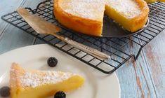 Easy Crustless Lemon Tart - Recipe Winners Lemon Dessert Recipes, Apple Cake Recipes, Lemon Recipes, Tart Recipes, Pudding Recipes, Apple Desserts, Sweet Recipes, Hot Desserts, Pudding Desserts
