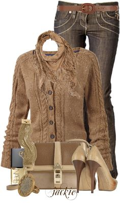 """""""Jeans and Heels"""" by jackie22 on Polyvore"""