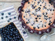 Blaubeer-Pfannkuchen aus dem Ofen