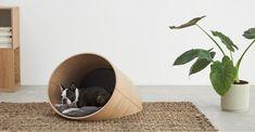 Kyali Medium Oval Pet Bed Natural Walnut and Navy Pet Food Storage, Dog Blanket, Pet Mat, Blog Deco, Large Animals, Gifts For Pet Lovers, Pet Beds, Pet Accessories, Your Pet