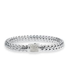 CBStark Jewelers - John Hardy Classic Chain bracelet with Pave Diamond clasp in sterling silver, $895.00 (http://www.cbstark.com/salecat/john-hardy-classic-chain-bracelet-with-pave-diamond-clasp-in-sterling-silver/)