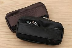 This Nomadic pen case has a unique sophisticated look, down to the attractive, bright silver zippers.