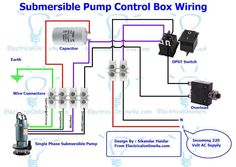 Single phase motor wiring with contactor diagram woodworking single phase 3 wire submersible pump control box wiring diagram asfbconference2016 Images