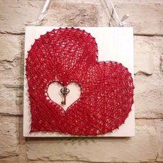 Валентинка сердце стринг арт 20×20см – купить или заказать в интернет-магазине на Ярмарке Мастеров | Ключ от Вашего сердца в руки любимого человека!