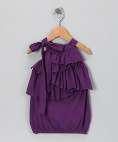 Take a look at this Iris Ruffle Tunic - Toddler & Girls by Sophie Catalou & Kartoons Kataloons on #zulily today!