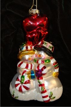 Lacrosse Set Glass Christmas Ornament  Lacrosse Ornament and