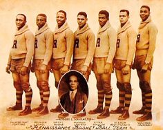 "The New York Rens were the first all-black professional African-American owned basketball team, formed in Harlem (1923). Basketball manager Robert ""Bob"" Douglas made a deal with Harlem real estate developer William Roach (owner of the new Renaissance Ballroom & Casino). Douglas asked Roach if they could play their home games at his ballroom in return for changing the name of the team to the ""New York Renaissance"" in order to promote the dance hall far and wide (Roach Agreed). The ""Rens""…"