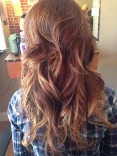 Prime Red Blonde Highlights In Brown Hair Hair Pinterest Brown Hairstyles For Men Maxibearus