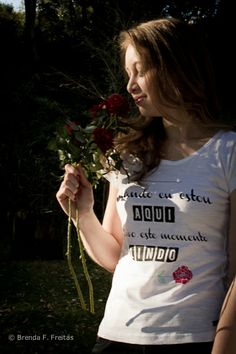 Coleção do Rei! Estampa: - Quando eu estou aqui, eu vivo esse momento LINDO. e-Acredite! : http://acredite.iluria.com/  Acredite! * 20% da renda das nossas camisetas são doados para ajudar projetos sociais.