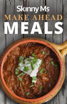 Enjoy 50+ Make Ahead Meals that will make menu planning easier than ever! #makeaheadmeals #menuplanning #freezermeals