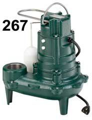 Zoeller 267-0001 1/2 HP Automatic Submersible Sewage and Effluent Pump Pumps Waste Water Pumps Sewage Pumps