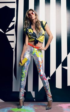 """Neon Gisele"" | Model: Gisele Bundchen, Photographer: Patrick Demarchelier, Vogue Brazil, July 2012"
