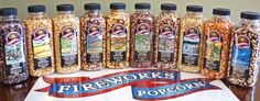Gourmet Popping Corn - Case of 15 oz. bottles, A Variety Pack of 10 bottles by Fireworks Popcorn, http://www.amazon.com/dp/B0009JHVN6/ref=cm_sw_r_pi_dp_PiE7rb1KF43BP