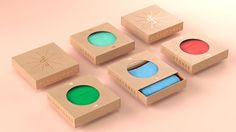 Singular Sock Boxes - Flashtones' Sustainable Accessory Packaging Makes Cardboard Artful (GALLERY)