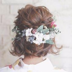 bridal head dress* botanical ヘッドドレス(ウェディング) amarige ハンドメイド通販・販売のCreema