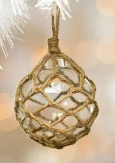 Caffco  Small Clear Rope Ornament