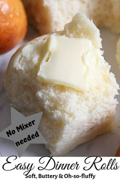 You Only Need 8 Simple Ingredients To Create The Most Fluffy, Buttery, Tender, Flaky On Top, So Easy And The Best Homemade Dinner Rolls Recipe On Side Dish Recipes, Bread Recipes, Real Food Recipes, Dessert Recipes, Oven Recipes, Recipies, Homemade Dinner Rolls, Dinner Rolls Recipe, Homemade Breads