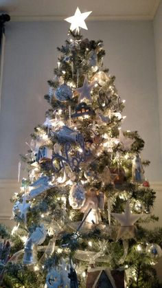 Silver/White/ flocked Christmas tree