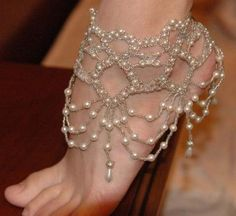 … Jewelry Bracelets, Anklets, Old Jewelry, Pearls Jewelry, Indian Wedding, Bridal Shoes, Beach Wedding, Vintage Jewelry Crafts
