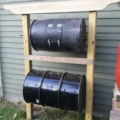 Double-Decker Drum Composter : 11 Steps (with Pictures) - Instructables Floral Design Classes, Compost Tumbler, How To Make Compost, Yard Waste, Urban Farming, Organic Vegetables, Green Building, Organic Gardening, Gardening Tips