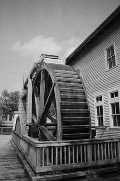 Water wheel in Jasper, Indiana