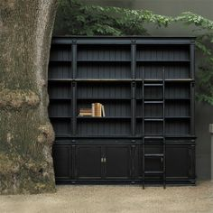 3 Section Black Library from Provincial Home Living. One day!