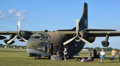 """Fairchild C-123K Provider came to the fore in Vietnam with its ability to operate out of short unprepared fields; if it couldn't land it could drop parachutes or carge from its rear loading ramp. Hot-and-high performance was improved by the addition of two GE J85-GE-17 turbo jets under the wings to assist its two 2 – P&W R-2800-99W """"Double Wasp"""" 18 Cyl. radial engines. This C-123k, named """"Thunderpig,"""" is restored and operated by the Air Heritage Museum of Beaver Falls, Pennsylvania."""