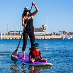 SUP. Exercise with your kids Can't wait until Dax is old enough to paddle board!