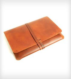 "Leather MacBook Pro Portfolio Case | This is a leather case/portfolio for a 15"" MacBook Pro that is... 