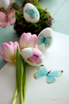 Watercolor Butterflies Easter Eggs   Easter Egg Decorating Ideas Anyone Can Make   DIY Projects