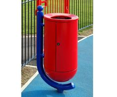 The Ollerton Buffalo is a post-mounted cast aluminium litter bin, which is ideal for childrens play areas and parks.