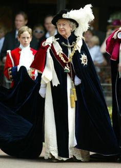 The Queen arriving at St Georges Chapel for the Royal Garter by The British Monarchy, via Flickr