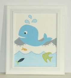 Whale Nautical Nursery Art Boy Wall Art Nursery Decor by JadieBaby, $24.00