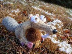 2000 Free Amigurumi Patterns: Scrat the Squirrel from Ice Age: free Amigurumi crochet pattern